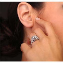 18KT White Gold 3.01ctw Diamond Ring