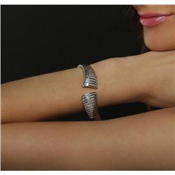 18KT White Gold 5.78cts Diamond Bracelet