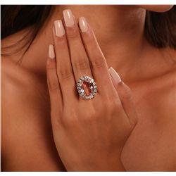14KT Yellow Gold 15.50ct Morganite and Diamond Ring