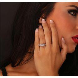 18KT White Gold 2.06ctw Diamond Ring