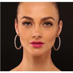 14KT Yellow Gold 12.25ctw Diamond Earrings