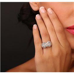 18KT White Gold 4.35ctw Diamond Ring