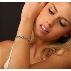 14KT White Gold 5.90ctw Diamond Bracelet