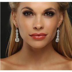 Platinum EGL Certified 18.17ctw Diamond Earrings