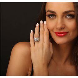 18KT White Gold 8.06ctw EGL USA Certified Diamond Ring