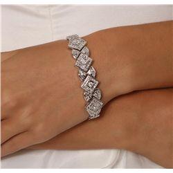 18KT White Gold 3.43ctw Diamond Bracelet