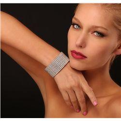 14KT White Gold 47.05ctw Diamond Bracelet