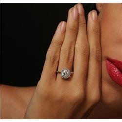 14KT White Gold 1.39ctw Diamond Ring