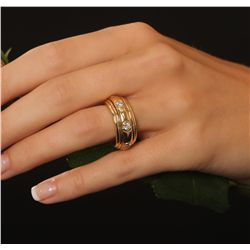 18KT Yellow Gold 0.90ctw Diamond Ring
