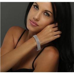 14KT White Gold 9.72ctw Diamond Bracelet