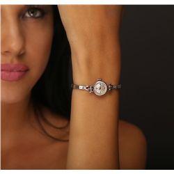 Ladies Vintage Rolex White Gold Wristwatch