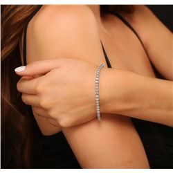 14KT White Gold 8.02ctw Diamond Bracelet