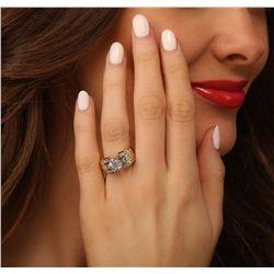 14KT Yellow Gold 3.38ctw Diamond Ring