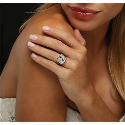 Platinum 10.12ctw Diamond Ring