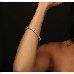 14KT White Gold 6.85ctw Diamond Bracelet