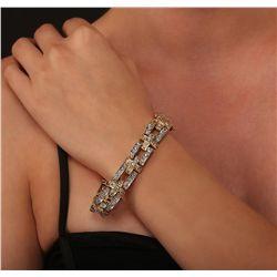 14KT Two-Tone 3.69ctw Diamond Bracelet