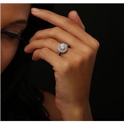 14KT White Gold 2.18ctw Diamond Ring
