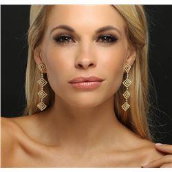 18KT Two-Tone Gold 5.00ctw Diamond Earrings