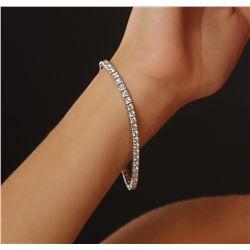 18KT White Gold 5.83ctw Diamond Tennis Bracelet