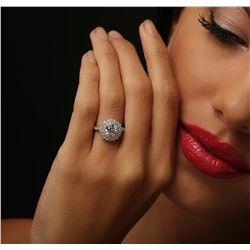 14KT White Gold 1.79ctw Diamond Ring
