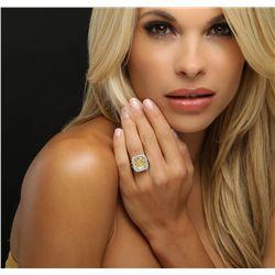 Platinum EGL Certified 11.06ctw Diamond Ring