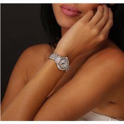 Ladies Rolex 18KT White Gold 10.80ctw Diamond DateJust Wristwatch