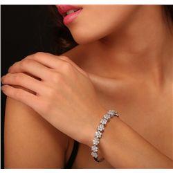 14KT White Gold 4.89ctw Diamond Bracelet