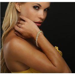 18KT Yellow Gold 14.48ctw Diamond Bracelet