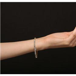 14KT Yellow Gold 7.83ctw Diamond Tennis Bracelet
