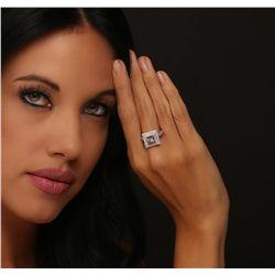 14KT White Gold 3.19ctw Diamond Ring