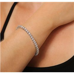 14KT White Gold 9.25ctw Diamond Tennis Bracelet