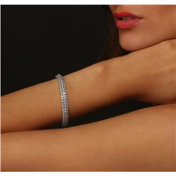 14KT White Gold 4.80ctw Diamond Bangle Bracelet
