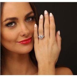 14KT White Gold 3.07ctw Diamond Ring
