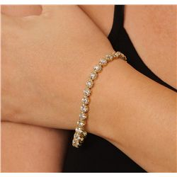 14KT Yellow Gold 10.04ct Diamond Tennis Bracelet