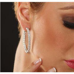 14KT White Gold 7.63ctw Diamond Earrings