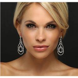 18KT White Gold 3.71ctw Diamond Earrings