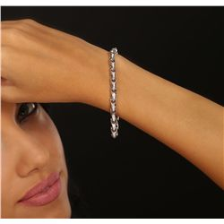 14KT White Gold 1.01ctw Diamond Bracelet
