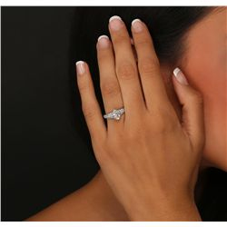 18KT White Gold EGL Certified 2.01ctw Diamond Ring