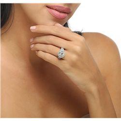 18KT White Gold 3.48ctw Diamond Ring