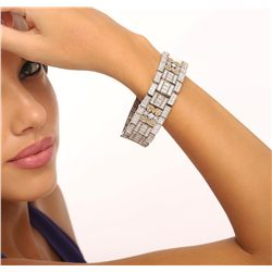 14KT White Gold 14.92ctw Diamond Bracelet