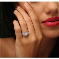 14KT White Gold 1.95ctw Diamond Ring