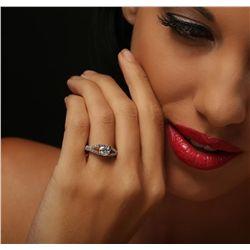 14KT White Gold 1.48ctw Diamond Ring