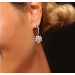 14KT White Gold 5.04ctw Diamond Earrings