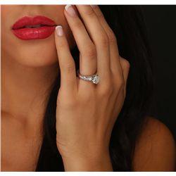 Platinum 2.89ctw Diamond Ring