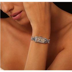Ladies Vintage Platinum 1.02ctw Diamond Wristwatch
