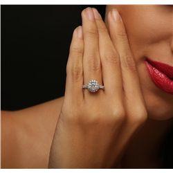 14KT White Gold 1.59ctw Diamond Ring