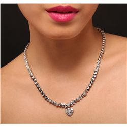 18KT White Gold 6.26ctw Diamond Necklace