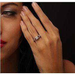 14KT White Gold 1.57ctw Diamond Ring