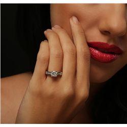 14KT White Gold 1.56ctw Diamond Ring