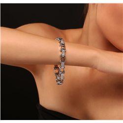 14KT White Gold 1.02ctw Diamond Bracelet